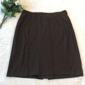 Limited Pencil Skirt 10 Brown Career Straight Mini